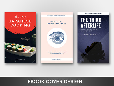Create a stunning eBook/book cover design