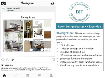 Provide a room design starter kit (moodboard & shopping guide)