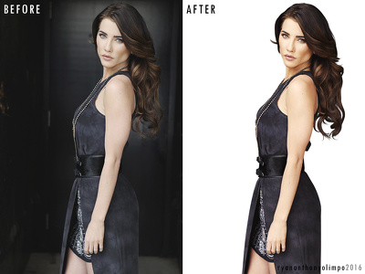 Edit beauty/fashion images for you. Deep etch, skin retouching, color correction.