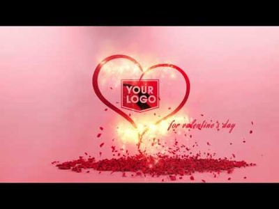 Create A Customized St Valentines Day Intro Promo With Your Logo