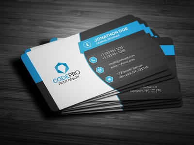 Design professional business cards for your Organization