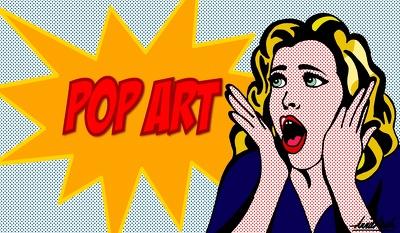 Pop art comics , two photo