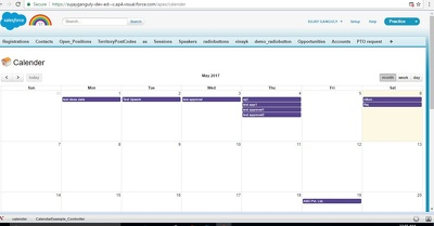 Design Dynamic calendar which working depends on your opportunity close date