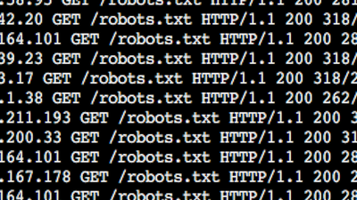 Create or modify a web robot access policy record for your web site