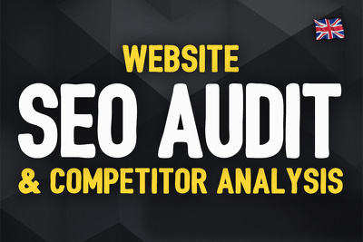 Audit your website and provide expert SEO Report and Competitor Analysis