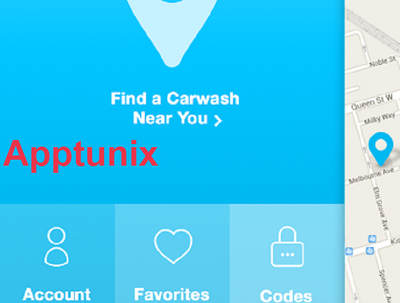 Create a car wash finder application for Android and IOS
