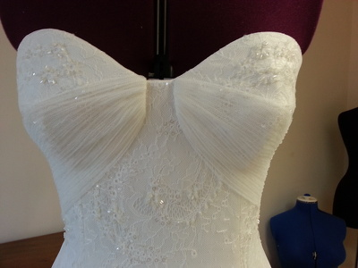 Sew wedding/prom/sample dress to your measurements from