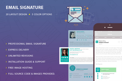 Email Signature Design, Email Signature HTML: Guideline to Installation