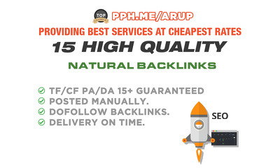 Build 15 HQ Backlinks For Your Money Site