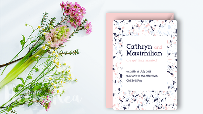Design a modern, unique and personalised invitation for wedding and special occasions