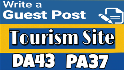 Publish a guest post  on Tourism Site which is DA 43