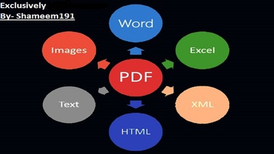 Convert 1-5 pages pdf to word, excel, powerpoint, images etc.