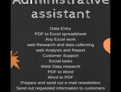 Administrative support task