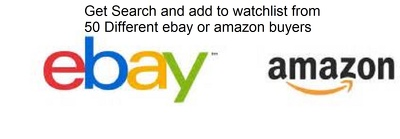 Search your Amazon or ebay product + Add to Watchlist from 50 Users