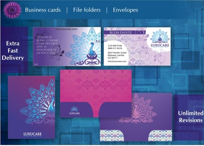 Design your business card / file folder / stationery
