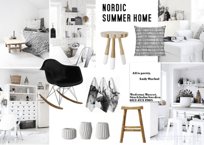 Develop a creative interior mood board for your home / event / photo shoot
