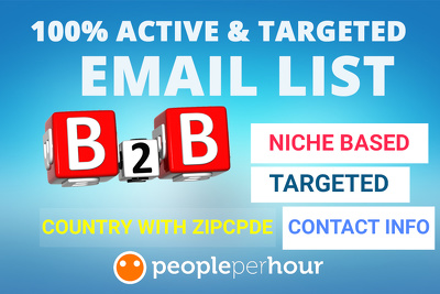 Collect 100 B2B  genuine and active mail with information
