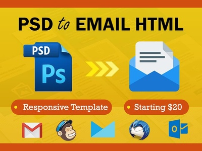 Code PSD to Email HTML Responsive Mailchimp Template