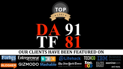 Guest Post On Top Tier Blogs with  DA 90 TF 80, All Niche dofollow link