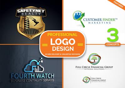Professional & *Premium Quality* Logo Design + Free Favicion + Free Source Files