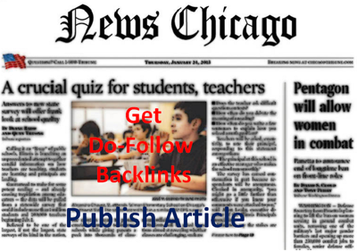 Write and Publish Article On Chicago News