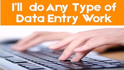 Do Data Entry, Data Mining, Typing, Web Research Or Copy Paste Work 2 hour