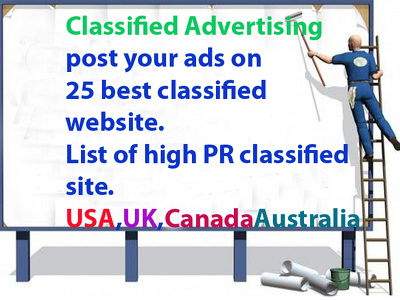 I will post your ads on 25 best USA classified website