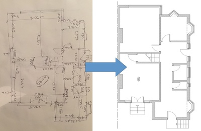 Convert your scanned sketches,  pdfs into editable CAD drawings.