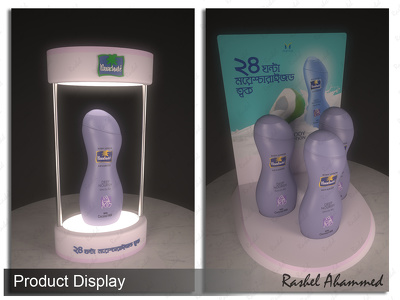 Make 3d model of Product Display Design.