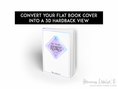 Convert your flat book cover into a 3D Hardback view