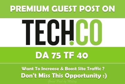 Write & Publish Guest Post on TECH. Tech.co - DA 75