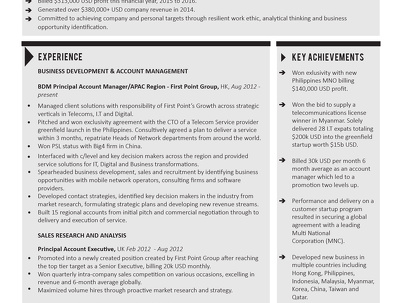 Design an attention grabbing, interview securing CV/resume