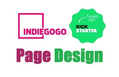 Design your kickstarter/indiegogo campaign page