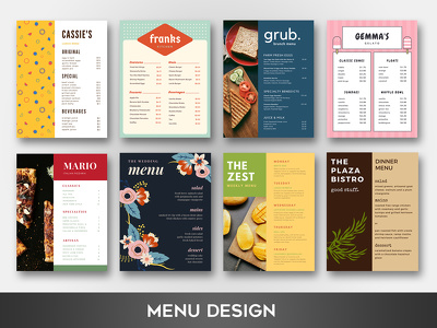 Create a stunning menu design with unlimited revisions