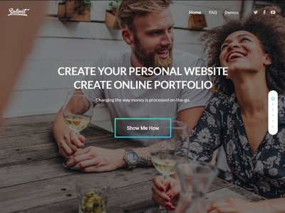 Create personal website or online portfolio website