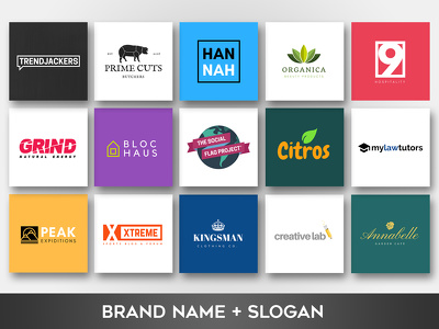 Create a powerful name and a slogan for your business brand identity