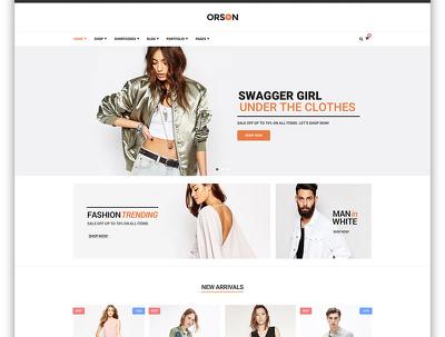 Create a premium fashion/clothing eccommerce site