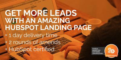 Create a HubSpot landing page
