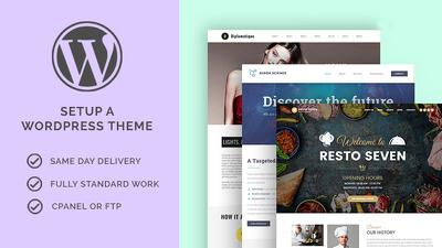 Setup Any Wordpress Theme to Your Website