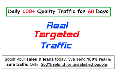 Drive UNLIMITED real traffic daily for 60 days