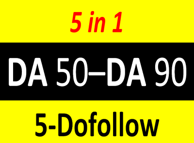 Write 5 dofollow guest posts on high quality famous sites at cheapest ever price