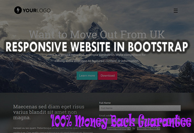 Design html css bootstrap website