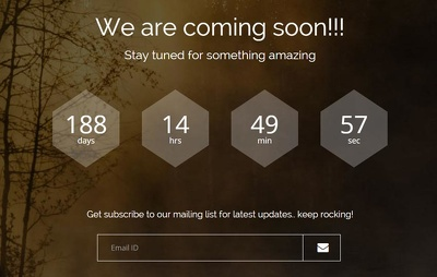 Create a responsive ' Coming Soon  page' with Countdown timer