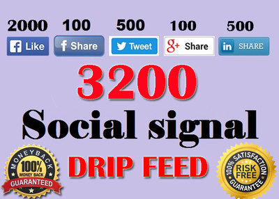 Provide 3200 Drip feed SEO social signal Boost your SEO ranking
