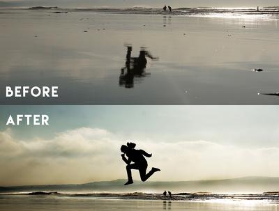 Enhance and fix 20 photos using Adobe Photoshop