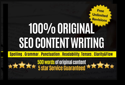 Do 500 words unique SEO Article or blog Writing