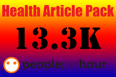 Give you a 13.3K ULTIMATE Health & Fitness PLR Article Pack Within 24hrs