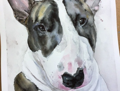 Watercolor animal portrait