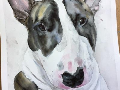 Watercolor animal portrait