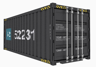 Create  3 Reailstic 3D Steel Shipping Containers - 3DSMAX 3D model